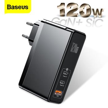 Baseus 120W GaN SiC USB C ładowarka szybkie ładowanie 4 0 3 0 QC typ C PD szybka ładowarka USB dla Macbook Pro iPad iPhone Samsung Xiaomi tanie i dobre opinie Samsung adaptacyjne szybkie ładowanie Huawei FCP USB PD BC1 2 Qualcomm szybkie ładowanie Huawei Quick Charge CN (pochodzenie)