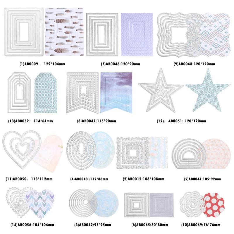 Curves Border Frames Dies Square Card Making Scrapbooking Metal Crafts Layering Metal Cutting Dies Handmade Greeting Card