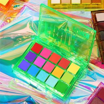 UCANBE Sweet Party Eyeshadow Pallete Neon Makeup Palette 15 Shimmer Glitter Matte Shades Matellic Nude Blendable Pigment Powder 2