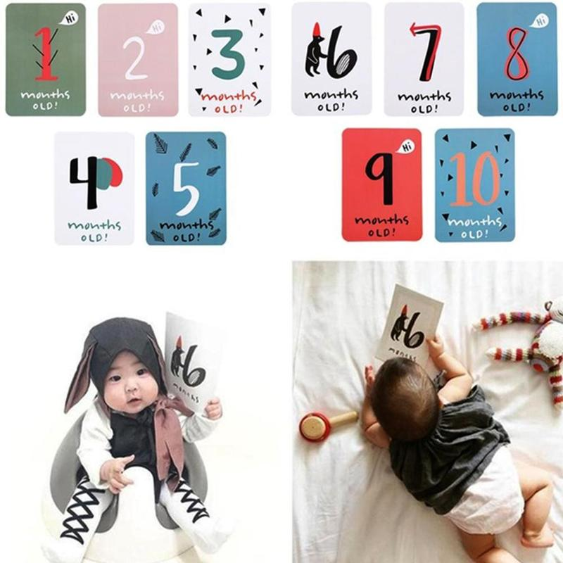 20pcs INS Kids Month Sticker Baby Photography Newborn Milestone Photographic Props For Infant Growth Commemorative Number Care