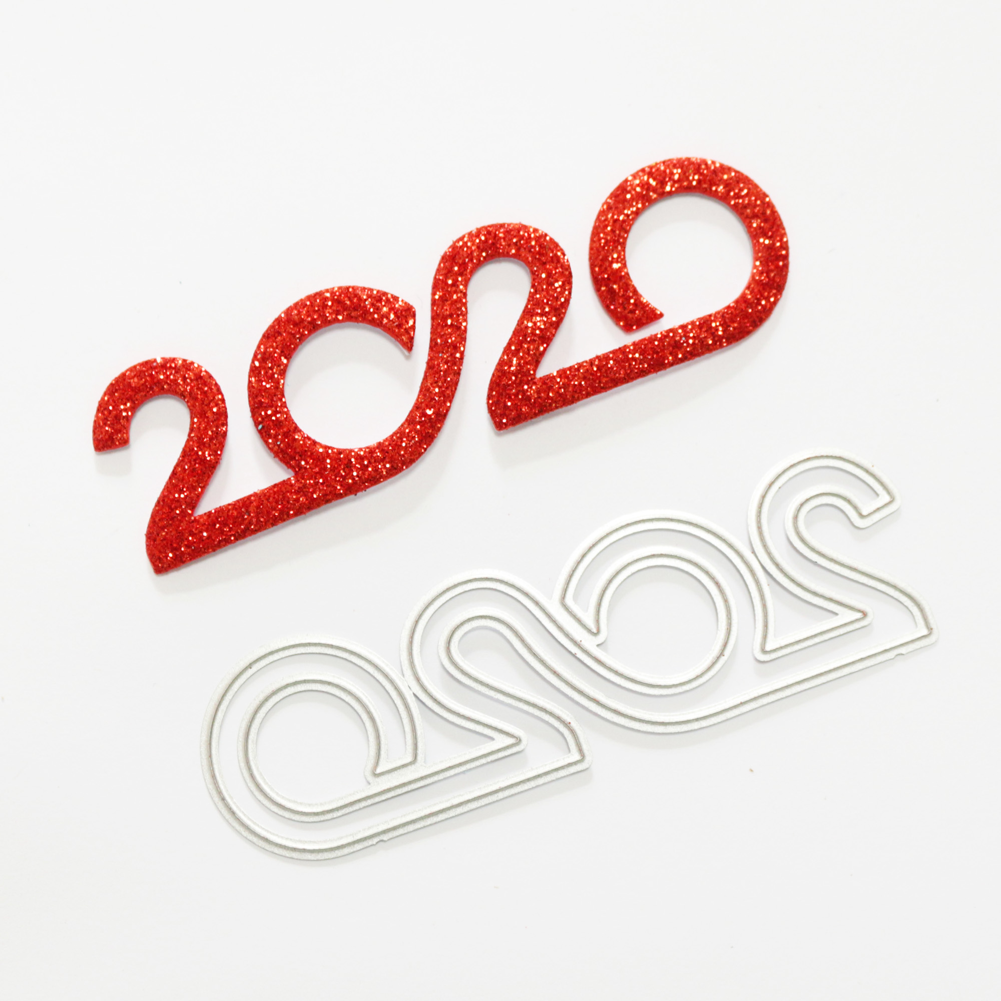 <font><b>2020</b></font> Number Text Metal Cutting Dies <font><b>2020</b></font> Words <font><b>Happy</b></font> <font><b>New</b></font> <font><b>Year</b></font> Stencil for DIY Scrapbooking <font><b>Cards</b></font> Decorative Embossing Dies image