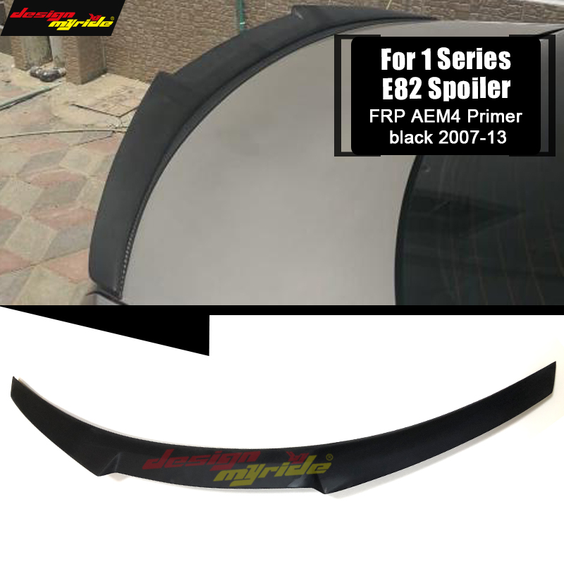 <font><b>E82</b></font> Rear Trunk Spoiler Wing Lip FRP AEM4 Style For <font><b>BMW</b></font> <font><b>E82</b></font> 1-Series 118i 120i 125i 128i 130i <font><b>135i</b></font> 135is Rear Spoiler Lid 2007-13 image