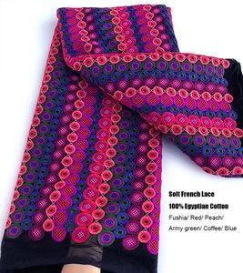 Image 2 - 非常にヘビーソフトフレンチレーススーパーきちんと刺繍アフリカチュール生地 5 ヤード豪華なカジュアル時折伝統服