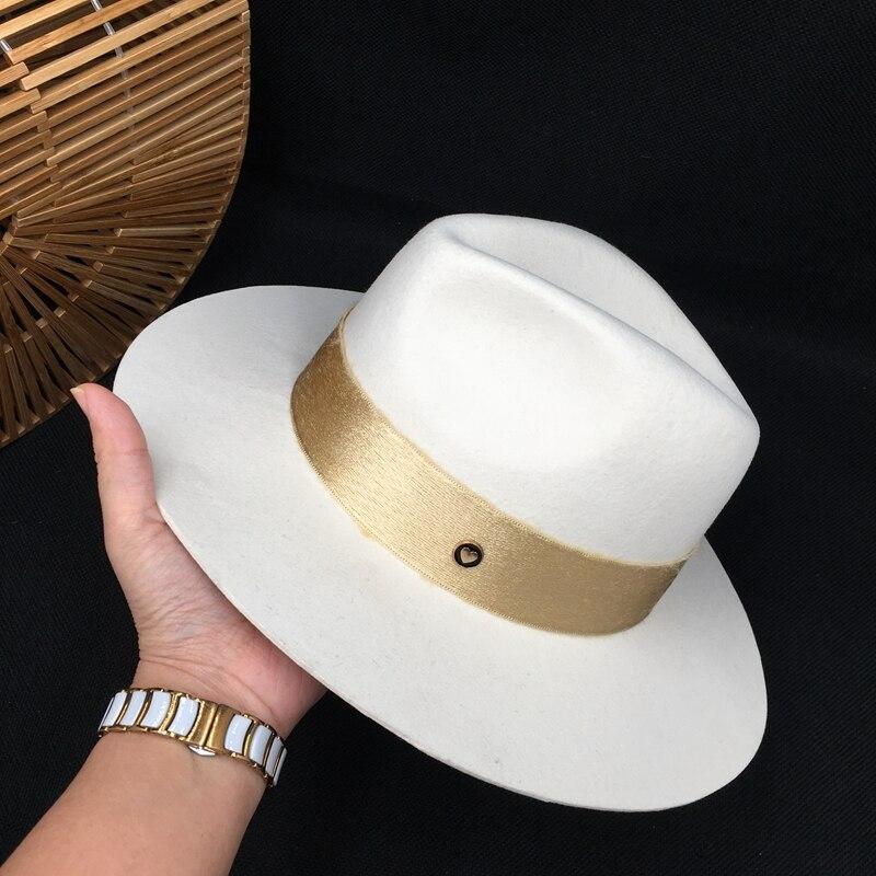 Fedora Autumn Wool White Male Temperament Dame Cap Hat Felt Hat Joker Panama Restoring Ancient Ways