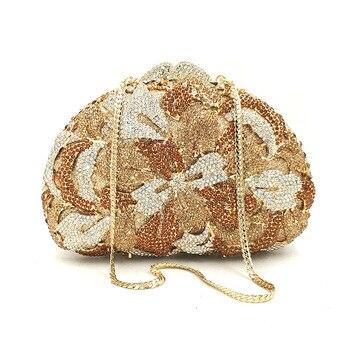 Luxury Flower Pattern European Evening Clutch Lady American Style Messenger Bag Personality Clutch Wallet