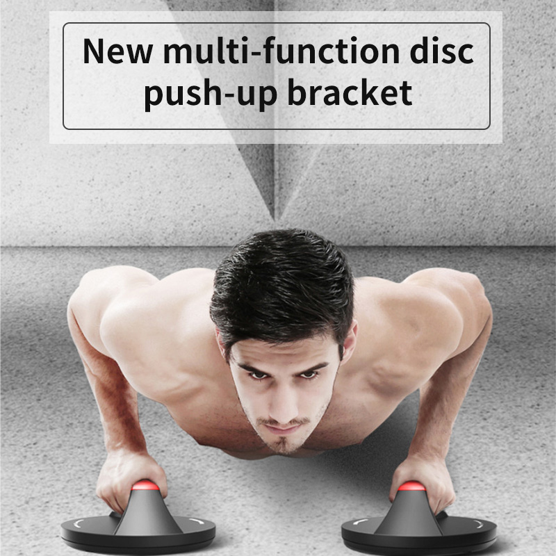Push Up Bars Non Slip Pushups Wide Handle Comfort Grips Workout Equipment Rotating Circular Push-Up Bracket Fitness Accessories