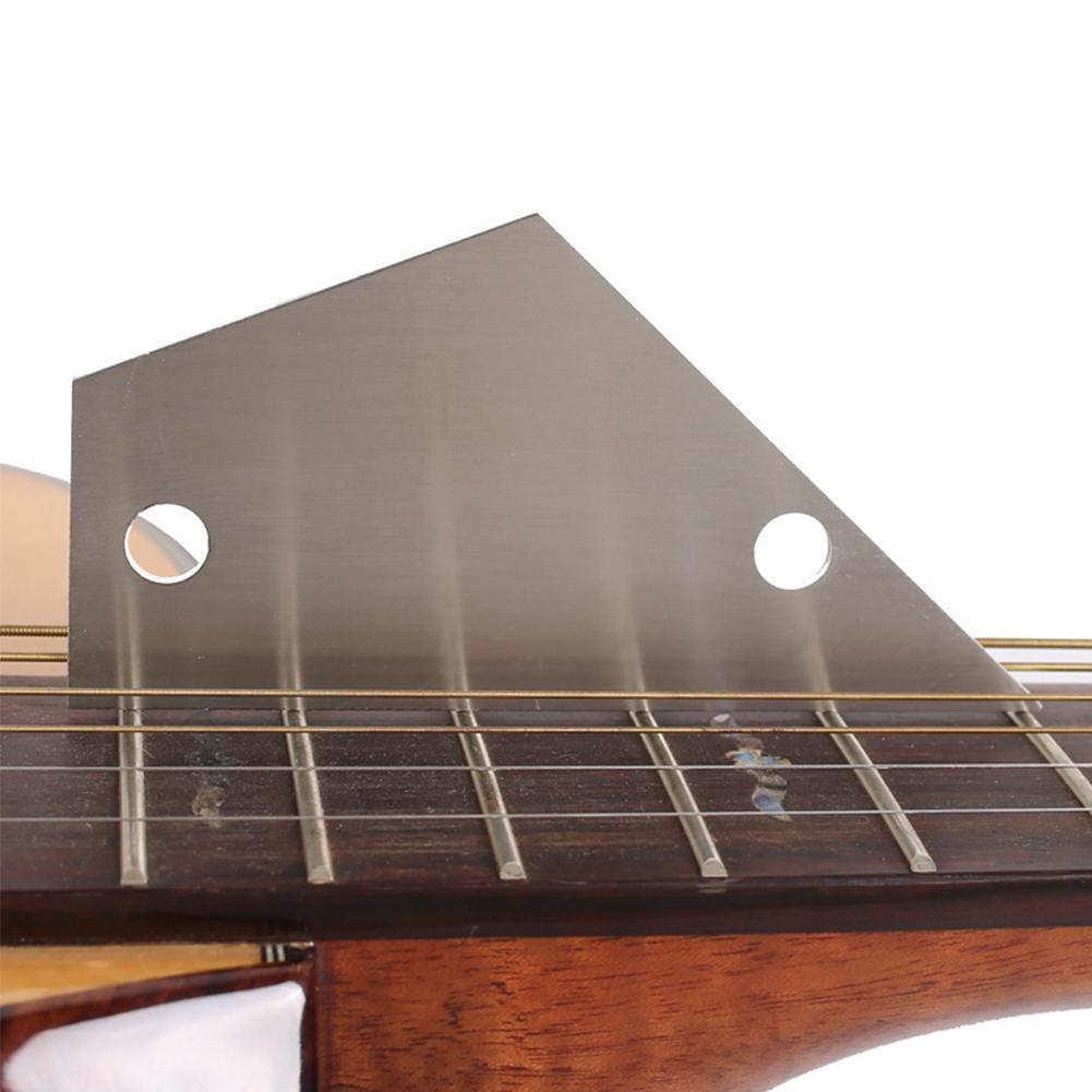 Folk bass leveling leveling ruler stainless steel two-hole measuring fret guitar height ruler fingerboard uneven triangle K2V2