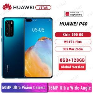 Глобальная версия оригинальный Huawei P40 5G смартфон 6,1 дюймов Kirin 990 5G Octa Core Android 10 SA/НСА в Wi-Fi датчик жестов