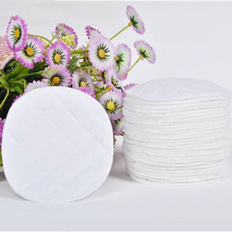 10Pcs Reusable Nursing Breast Pads Washable Baby Feeding Breast Pad Soft Cotton Absorbent Anti-overflow Maternity Nursing Pad