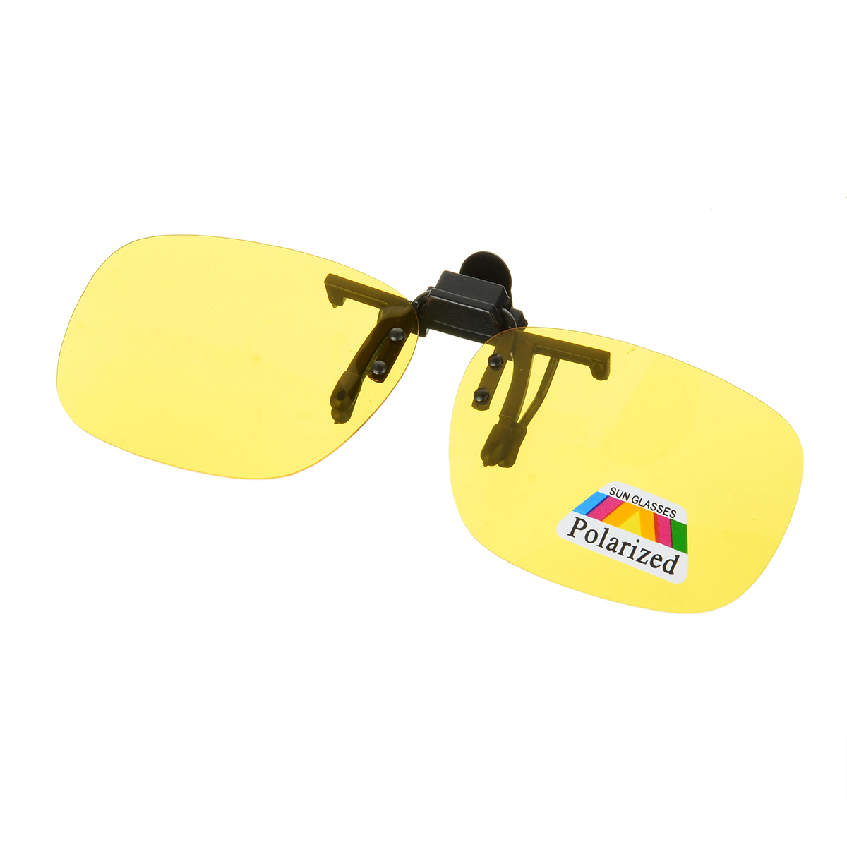 Polarized Clip-on Sunglasses Night Vision Unisex Flip Up Over Prescription Glasses For Driving Fishing Sport Ultra Light