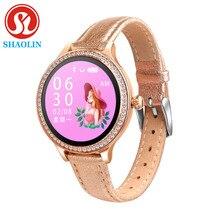 אופנה SmartWatch גבירותיי חכם שעון נקבה פיסיולוגיים תקופת תזכורת ספורט כושר צמיד עבור Aoole אנדרואיד נשים שעון