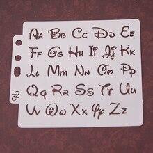 Alphabet Letter Stencils Template Painting Scrapbooking Embossing Album Card DIY