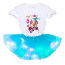 Комплект одежды для девочек футболка с цифрами на день рождения