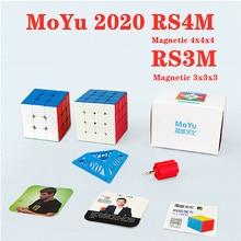 Moyu 2020 RS3M RS4M manyetik 3x3x3 hız küp 4x4x4 sihirli küp moyu RS4 M RS3 M mıknatıs 4x4 cubo sihirli 3x3 bulmaca küp