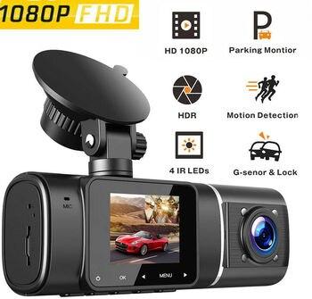 1080P HD Car DVR Camera Dual DashCam Front+Inside Car Recorder Camera Digital Video Recorder Camcorder 310° Wide Angle