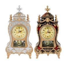 Reloj despertador de escritorio, reloj Vintage, sala de estar clásica, mueble de TV, escritorio, muebles imperiales, reloj de péndulo de asiento creativo