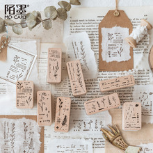 Rubber-Stamps Stationery Craft Scrapbooking Book-Series Wooden Vintage Plant-Decoration