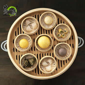 Commercial bamboo grate large bamboo food steamer drawer steamed buns handmade basket canton morning tea restaurant 35-52cm