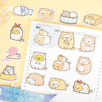 45 pcs/pack Sumikko Gurashi Bullet Journal Decorative Sticker Stationery Craft Stickers Scrapbooking DIY Diary Album Stick Label цена 2017