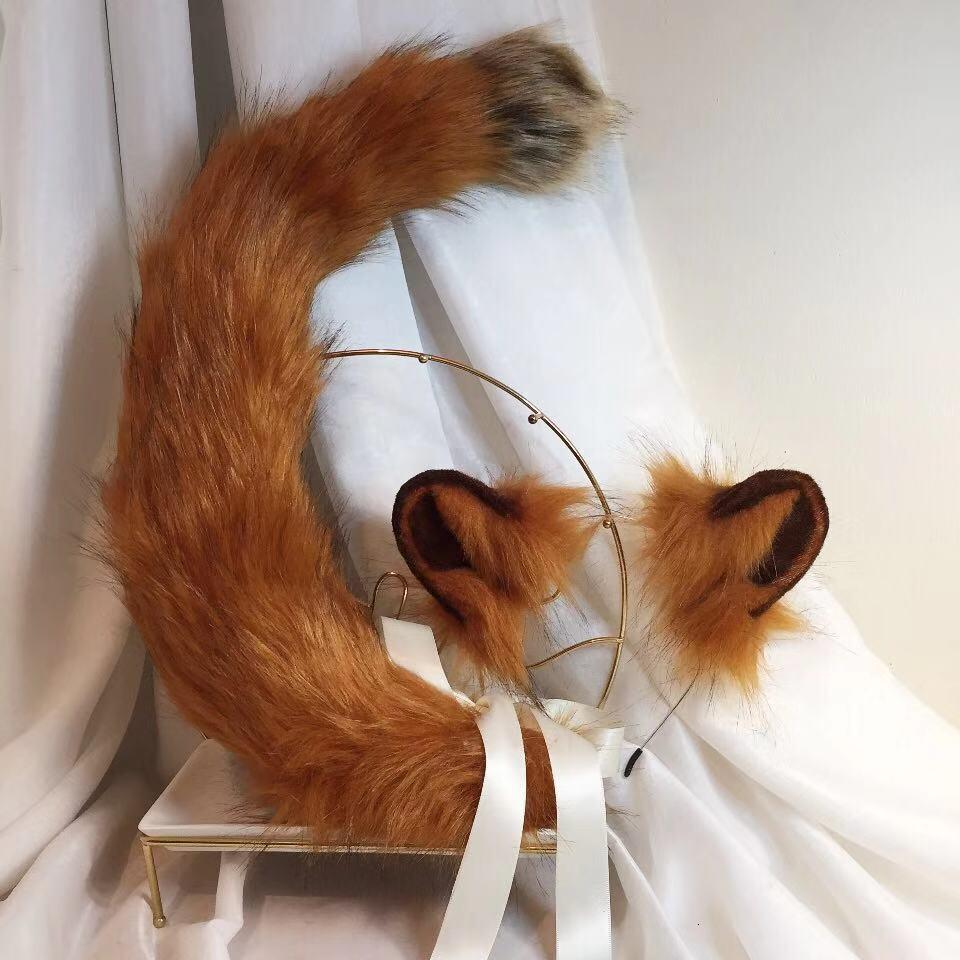MMGG nouveau Lion d'or oreilles cerceau queue bête Style chapeaux pour Cosplay noël Halloween accessoires de déguisement cadeau fantaisie