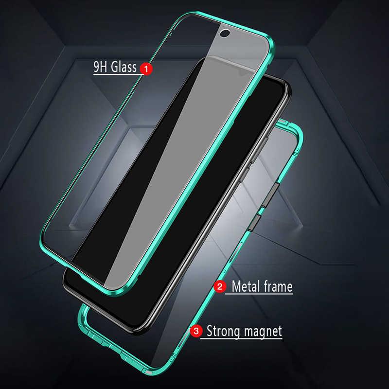 ספיחה מגנטית מתכת מקרה עבור Xiaomi 9 לייט 9T פרו 8 SE CC9 A3 9H כפול צדדי מזג זכוכית סרט Redmi הערה 8 7 פרו 8T F1
