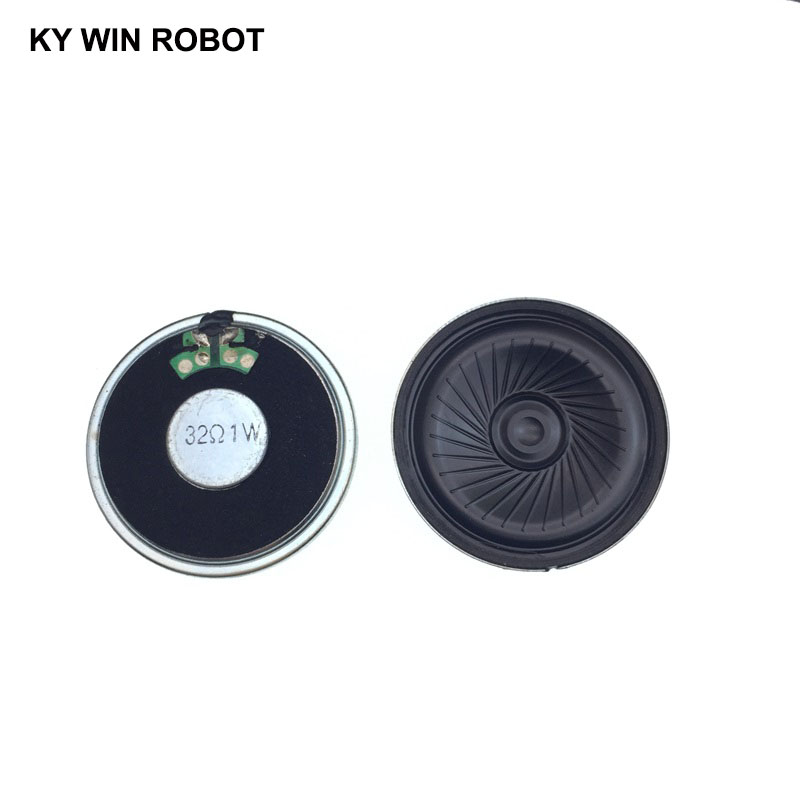 2pcs/lot New Ultra-thin Speaker 32 Ohms 1 Watt 1W 32R Speaker Diameter 45MM 4.5CM Thickness 5MM