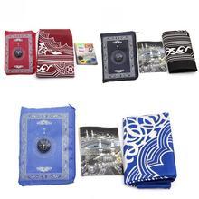 Muslim Prayer Rug New Waterproof Muslim Travel Pocket Mat with Prayer Compass N1O7