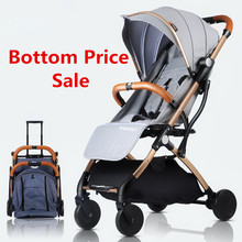 цена на Baby Stroller Trolley Car Trolley Folding Baby Carriage 2 in 1 Europe Stroller Original Pushchair Plane Buggy Lightweight Pram