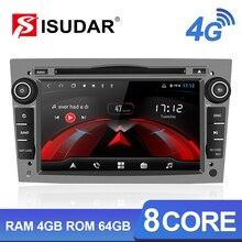 Isudar H53 4G الروبوت 2 الدين راديو تلقائي لأوبل/أسترا/زافيرا/كورسا سيارة الوسائط المتعددة تحديد مواقع لمشغل أقراص دي في دي 8 النواة RAM 4GB ROM 64GB USB DVR