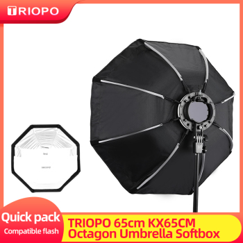 TRIOPO 65cm KX65CM Softbox Octagon Umbrella Soft box for Godox V1 AD200 Speedlite Flash Light photography studio accessories 1