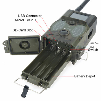 Skatolly HC300M Hunting Camera GSM 12MP 1080P Photo Traps Night Vision Wildlife infrared Hunting Trail Cameras hunt Chasse scout 3