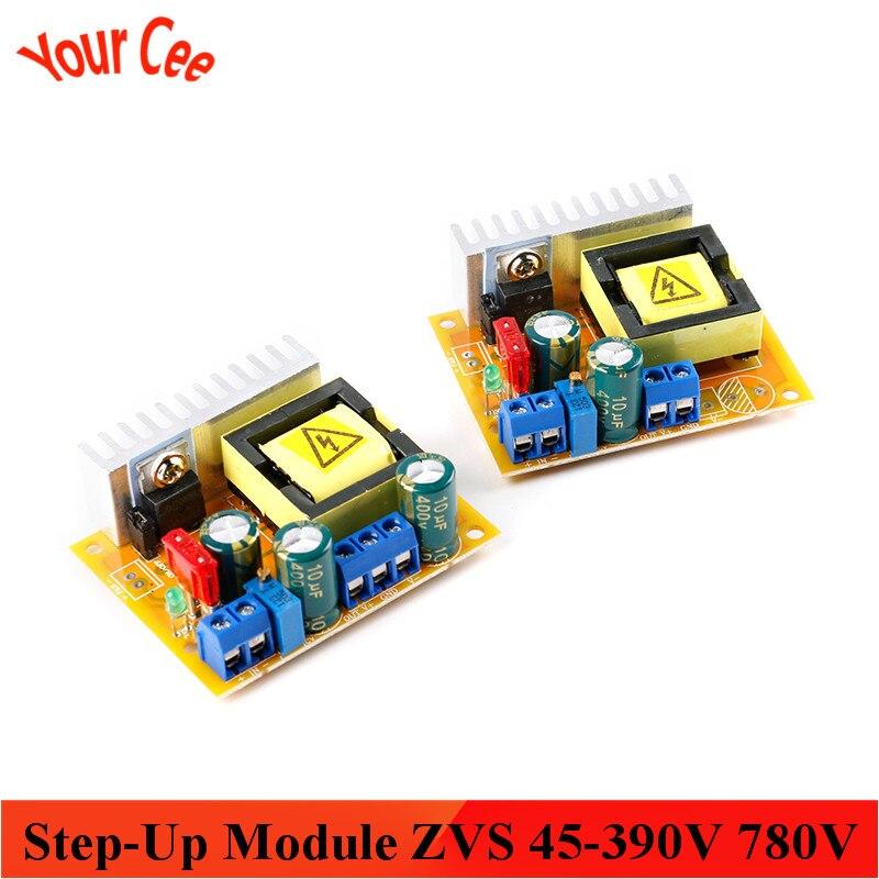 Boost модуль повышающего модуль ZVS конденсатор с алюминиевой крышкой зарядки DC-DC + 45-390V 780V / ± 45-390V двойной Выход стабилизаторы напряжения регул...