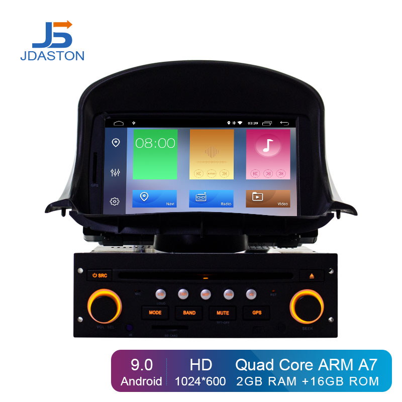 JDASTON <font><b>Android</b></font> 9.0 Car DVD Player For <font><b>PEUGEOT</b></font> <font><b>206</b></font> 206CC GPS Navigation 1 Din Car Radio Multimedia Stereo Steer Wheel Control image