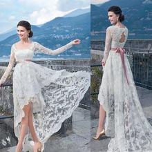2020 белое фатиновое официальное платье с длинными рукавами