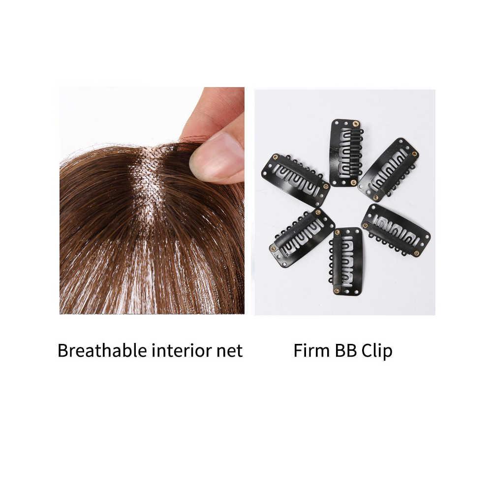 Salonchat 100% Remy Haar Pony Clip In Hair Extensions Natuurlijke Clip In Pony Menselijk Haar Kant Pony Clip In Air bang Fringe Haar