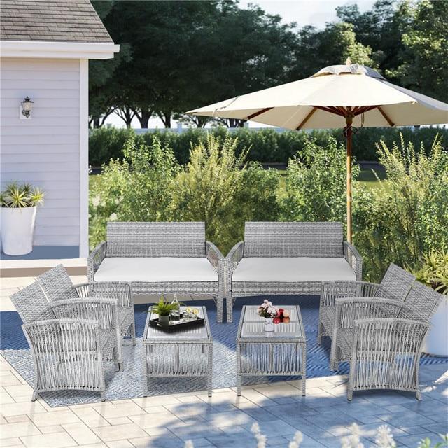 8Pcs Outdoor Garden Furniture Set 1