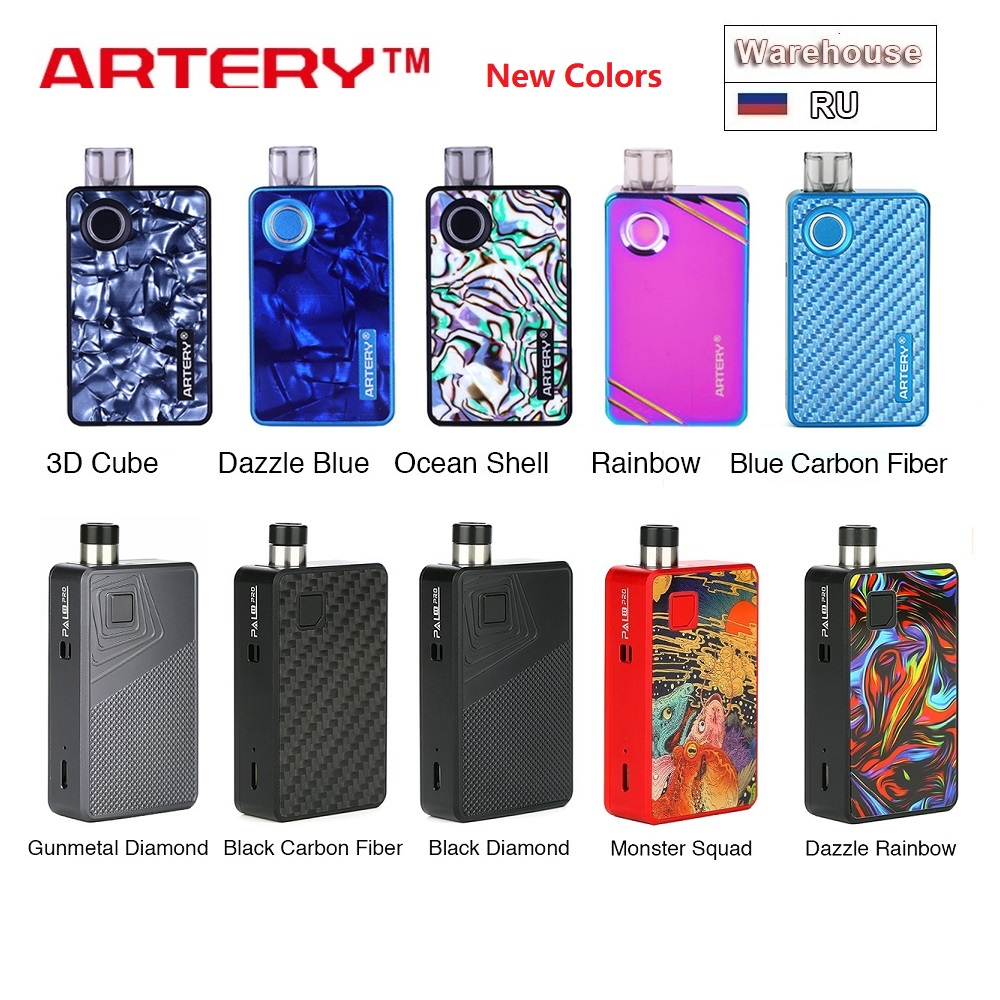 Original Artery PAL 2 Pod Kit Vs Pal 2 Pro Kit W/ 1000mAh Battery & 3ml/ 2ml Pod & Side Refilling Artery PAL 2 E Cig Vape Kit