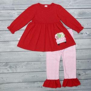Image 1 - תינוקת חליפת בגדי יילוד תינוקות סטי תינוק בנות להלביש תלבושת בגדי סתיו אביב פעוט סט ילדי תלבושות חג המולד