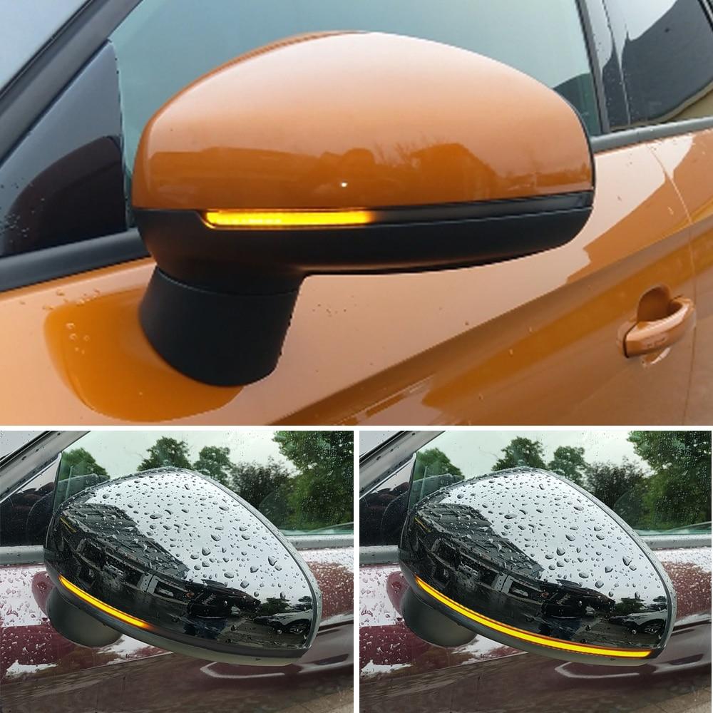 Светодиодный динамический поворотный сигнал для Audi A1 8X 2011-2017, босветильник вое крыло, зеркало заднего вида, последовательный световой индик...