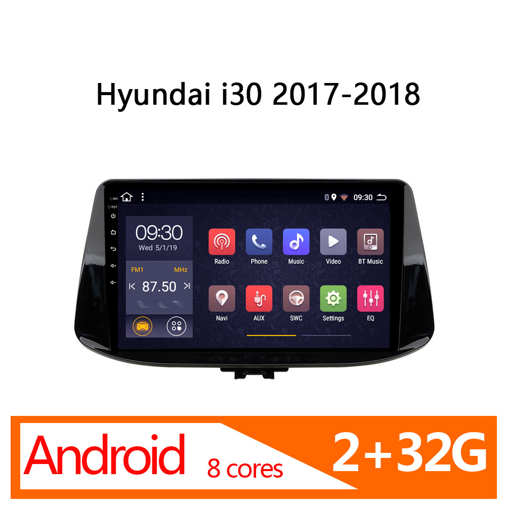 android car stereo for Hyundai <font><b>i30</b></font> <font><b>2017</b></font> 2018 2g+32G 8 core automagnitol coche multimedia auto player vehicle navigator carplay image