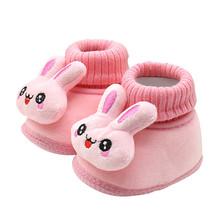 Maluch niemowlę noworodek kreskówka królik buty buciki niemowlęce z miękkimi podeszwami ciepłe buty słodkie buciki zimowe buty dziecięce obuwie tanie tanio ARLONEET Cotton Fabric Zima Slip-on Cartoon animacja Unisex Pasuje prawda na wymiar weź swój normalny rozmiar baby soft shoes