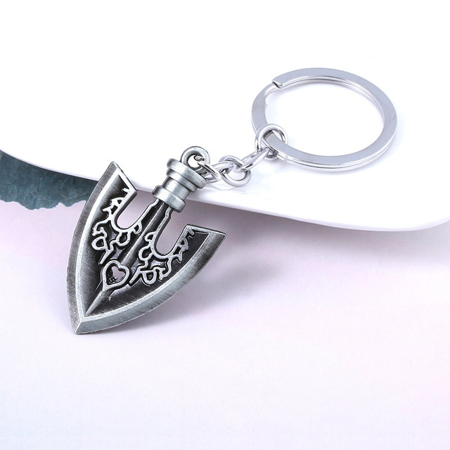 JOJOS Bizarre Adventure Killer Queen Arrow Keychain Kira Yoshikage Cosplay Key Chain for Women Men Car Keyring 2