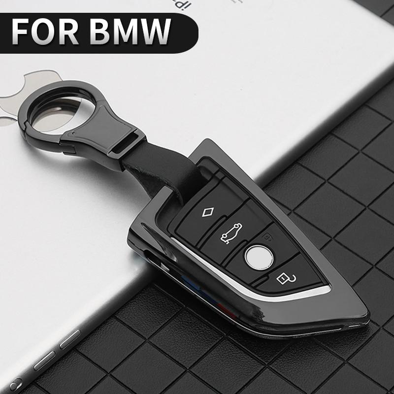 Metal Car Key Case Cover For BMW 1 3 5 7 Series X1 X3 X4 X5 X6 M3 M5 F20 F30 F10 E30 E34 E70 F15 F16 F45 F46 G20 G30 G32 G11 G12