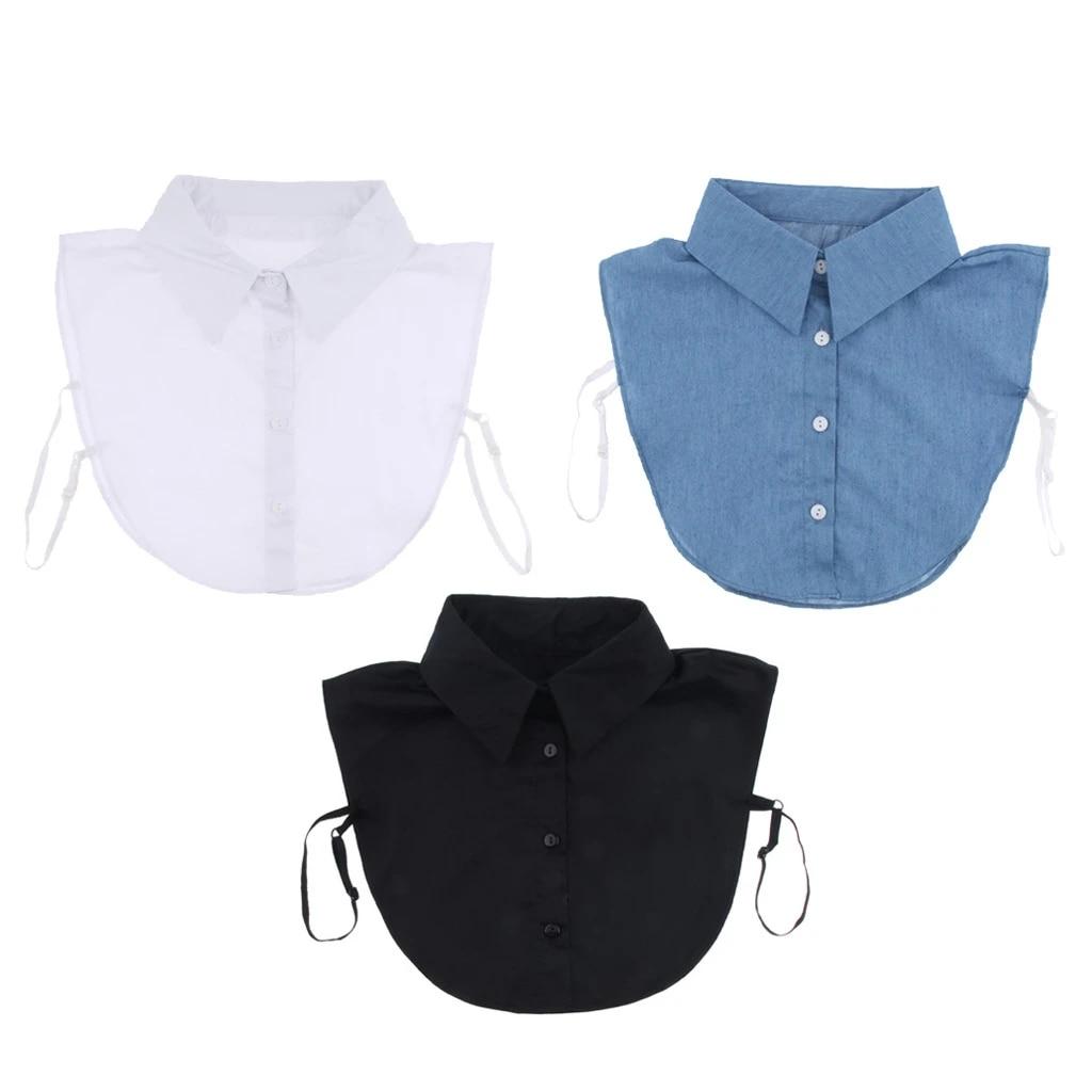 QinCiao Fashion Mens Fake Collar Detachable Dickey Collar Blouse Half Shirts False Collar