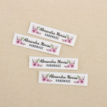 160 шт. Гладильные этикетки, логотип или текст, персонализированный бренд, этикетки для одежды, цветы, пользовательский дизайн, бирки для ткан...