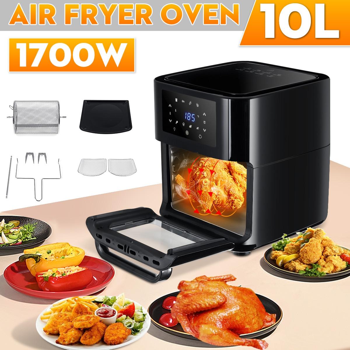 1700W 10L multifonction Smart friteuse poulet sans huile Air friteuse four sain alimentaire friteuse cuisinière tactile LCD électrique friteuse 1