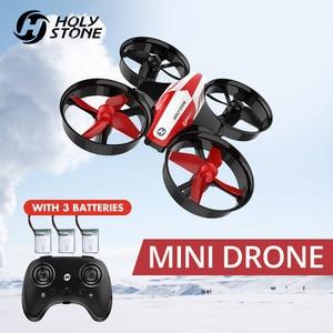 Image 1 - La piedra sagrada HS210 Mini RC Drone juguete sin Drones Mini RC Quadrocopter Quadcopter Dron una llave tierra Auto flotando helicóptero