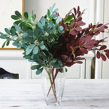 Green Artificial Leaves Plants Wall Decorative Smooth Home Shop Garden Decor Exquisite Flowers