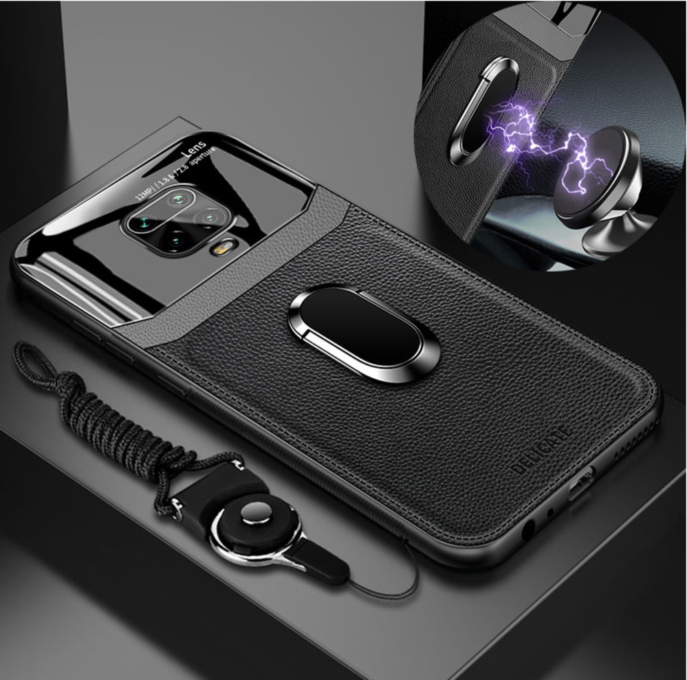Case For Xiaomi Redmi Note 9S Case Leather Glass Shockproof Cover For Redmi Note 9 9 S Pro Max Case Full Bumper Magnet Car Rope