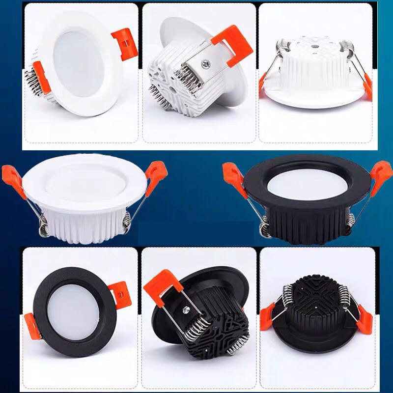 Led Down Light 3 Colors 3W 5W 7W 9W 12W Led Ceiling Light Waterproof Recessed Bulbs 230V Round Panel Light Indoor Lighting